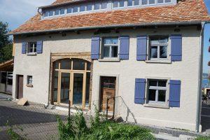 Altbau Sanierung Aussenbereich Fassade Fachwerkhaus Oehlen